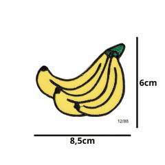 Aplique Termocolante Cacho de Bananas 3 Unidades Ref:12/88
