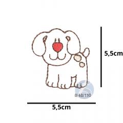 Aplique Termocolante Cachorro Boby 3 Unidades Ref:8/48/110