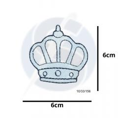 Aplique Termocolante Coroa Azul 3 Unidades Ref:10/33/156