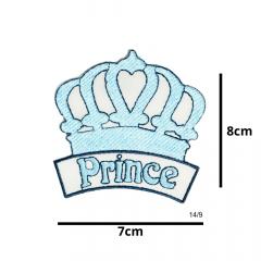 Aplique Termocolante Coroa Prince Azul 3 Unidades Ref:14/9