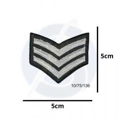 Aplique Termocolante Emblema Militar Prata 3 Unidades Ref:10/75/136