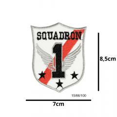 Aplique Termocolante Emblema Squad 3 Unidades Ref:15/66/100