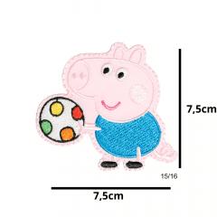 Aplique Termocolante George Pig 3 Unidades Ref:15/16