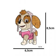 Aplique Termocolante Patrulha Canina Skye  3 Unidades Ref:15/14