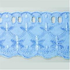 Bordado Inglês Azul Bebe PP033 010 - 6cm x 13,70 metros