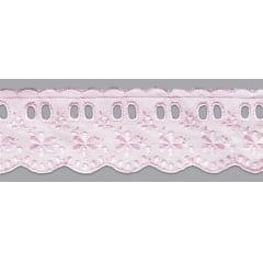 Bordado Inglês com Passa Fita Rosa bebê - 5cm x 13,70 metros  - Cópia (1)