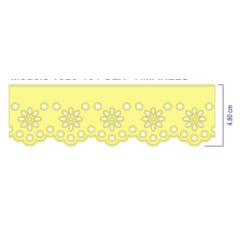 Bordado Inglês Amarelo Prensado 1348 4,8 cm X 10 m