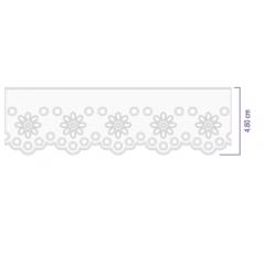 Bordado Inglês Branco Prensado 1020 -10 4,8 cm x 10 metros