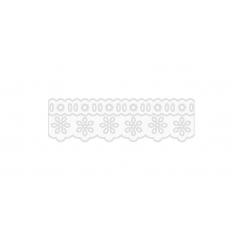 Bordado Inglês com Passa Fita Branco Prensado 1023 -103 4,8 cm x 10 metros
