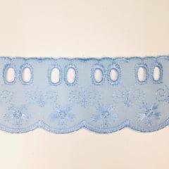 Bordado Inglês com Passa Fita Azul Bebê 001 PP057 -010- 5cm x 13,70 metros