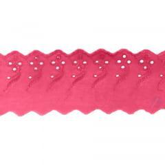 Bordado Inglês Pink BP077 008- 7,5cm x 13,70 metros