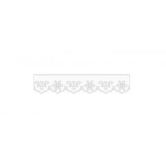 Bordado Inglês Prensado Branco 1002-103  3,2cm x 10 metros