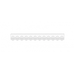 Bordado Inglês Prensado Branco Coração 1036-103 2,1 cm x 10 metros