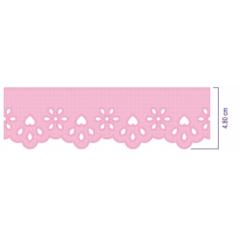 Bordado Inglês Rosa Bebê Prensado 1018-22 4,8 cm x 10 metros