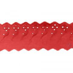 Bordado Inglês Vermelho BP077 14- 7,5cm x 13,70 metros