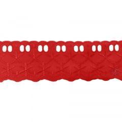 Bordado Inglês Vermelho PP033 060 014 - 6cm x 13,70 metros