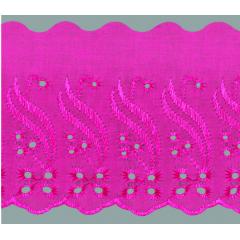 Bordado Inglês Rosa Pink  BPP 088 010-10cm x 13,70 metros -