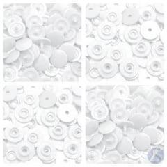 Botão Ritas Pressão Plástico Tic Tac nº12 001 Natural Caixa com 200 unidades