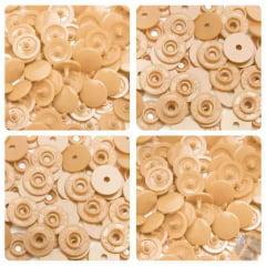 Botão Ritas Pressão Plástico Tic Tac nº12 034 Bege Caixa com 200 unidades