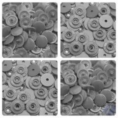Botão Ritas Pressão Plástico Tic Tac nº12 054 Prata Caixa com 200 unidades
