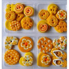 Kit Botão Patchwork Blister Amarelo