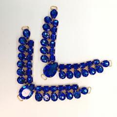 Cabedal para Chinelo C01 Azul Royal