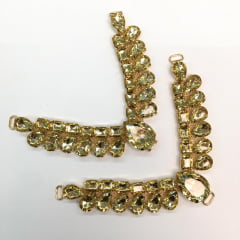 Cabedal para Chinelo C01 Dourado