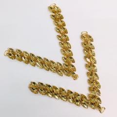 Cabedal para Chinelo C02 Dourado