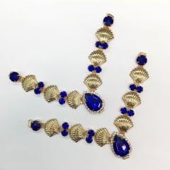 Cabedal para Chinelo C087 Azul Royal