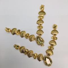 Cabedal para Chinelo C087 Dourado