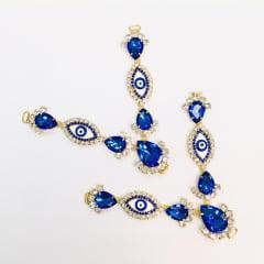 Cabedal para Chinelo C13 Azul Royal Olho Grego