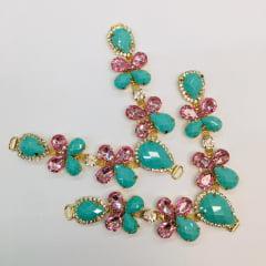Cabedal para Chinelo C14 Tiffany e Rosa