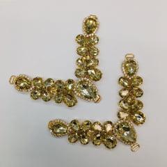 Cabedal para Chinelo C69 Dourado
