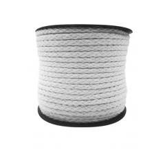 Cordão de Algodão Branco 8 mm A20 Peça 25 Mts