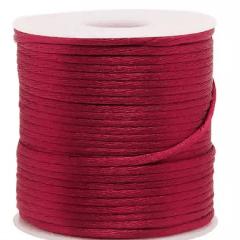 Cordão De Cetim Rosa Escuro  1 mm  100 Metros