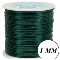 Cordão De Cetim  Verde Escuro 1 mm 100 Metros