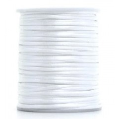Cordão De Cetim1  mm Branco  100 Metros