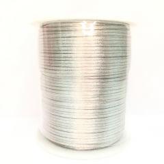 Cordão De Cetim 1 mm Prata