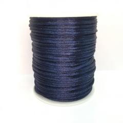 Cordão De Cetim Azul Marinho 2 mm