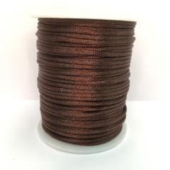 Cordão De Cetim Marrom Escuro 2 mm