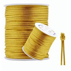 Cordão De Cetim Ouro 1 mm 100 metros