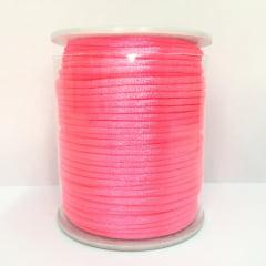 Cordão De Cetim Rosa Neon 2 mm
