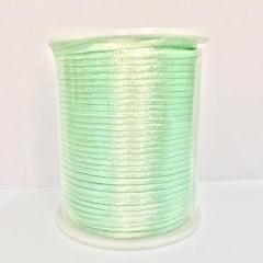 Cordão De Cetim Verde Água 2 mm