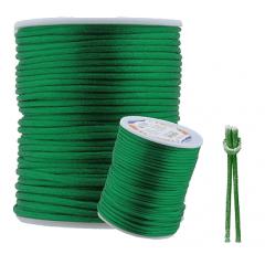 Cordão De Cetim Verde Bandeira 2 mm
