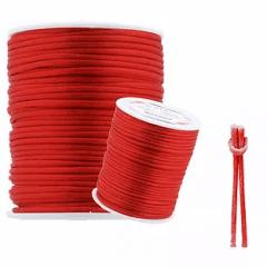 Cordão De Cetim Vermelho 1 mm 100 metros