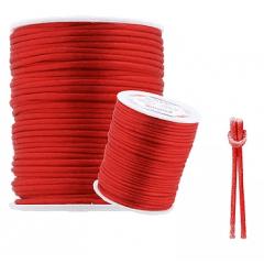 Cordão De Cetim  Vermelho 2 mm