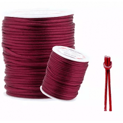 Cordão De Cetim Vinho Claro 1 mm 100 metros
