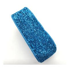 Fita Glitter  Azul Turquesa 38 mm 10 Metros