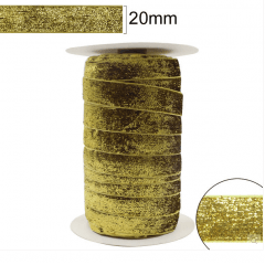 Fita Glitter Dourada 20 mm 10 Metros
