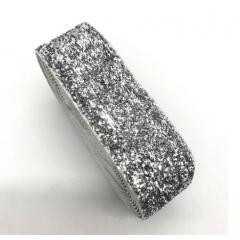 Fita Glitter Prata 38 mm 10 Metros